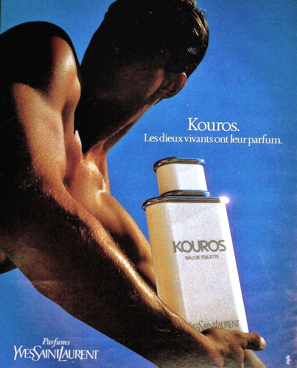 vintage ad kouros by yves saint laurent