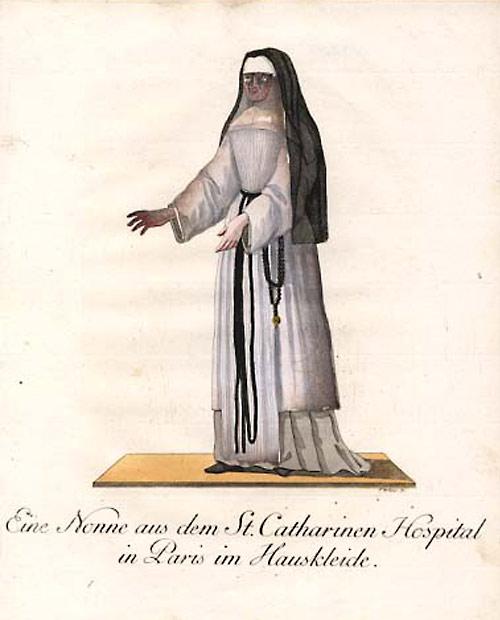 serge lutens drawing of nun
