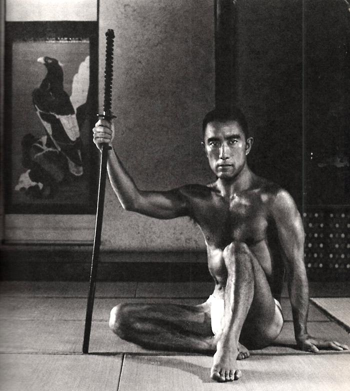portrait yukio mishima by tamotsu yatsò