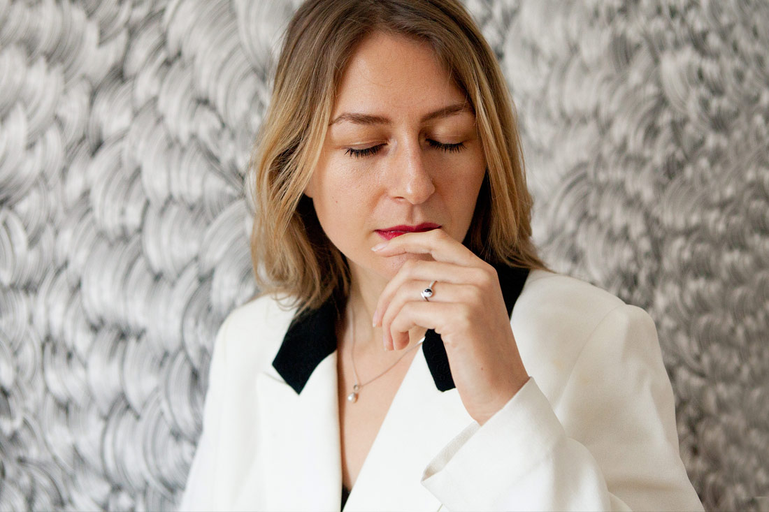 Bettina Krieg photographed by Franziska Taffelt