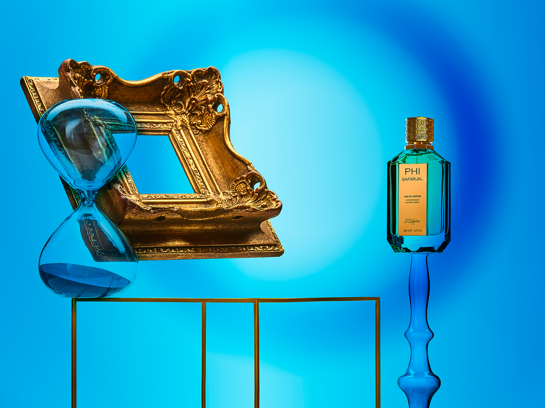 Phi safarja in a surrealist perfume still life