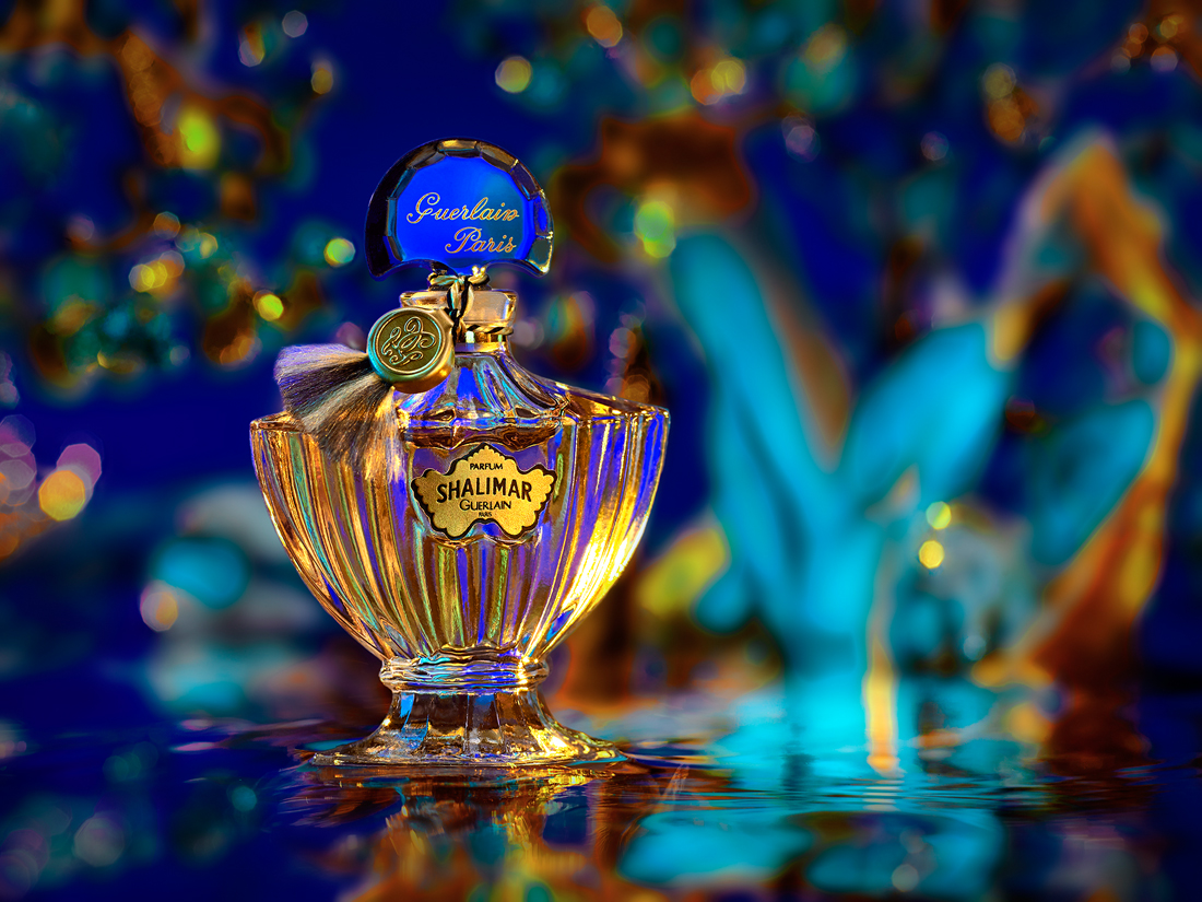 perfume still life shalimar by guerlain