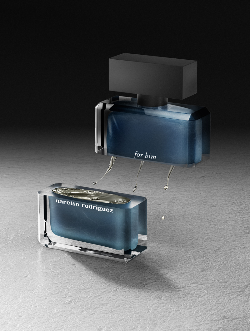for him by narciso Rodriguez in a perfume still by Marc beaussart