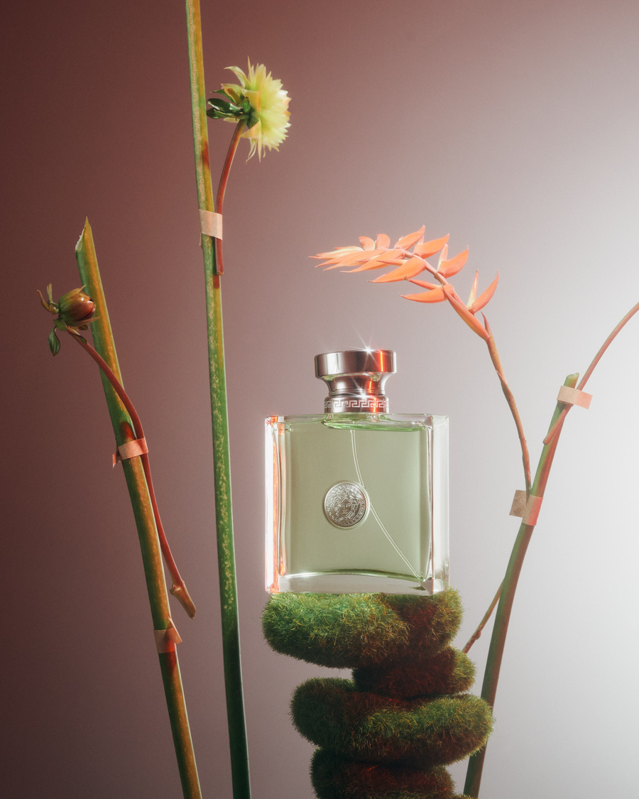 perfume still life with versence by Versace