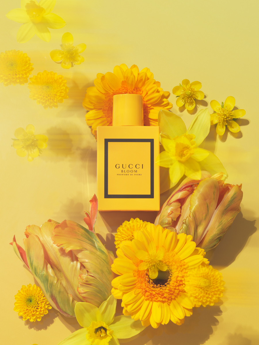 gucci bloom perfume editorial