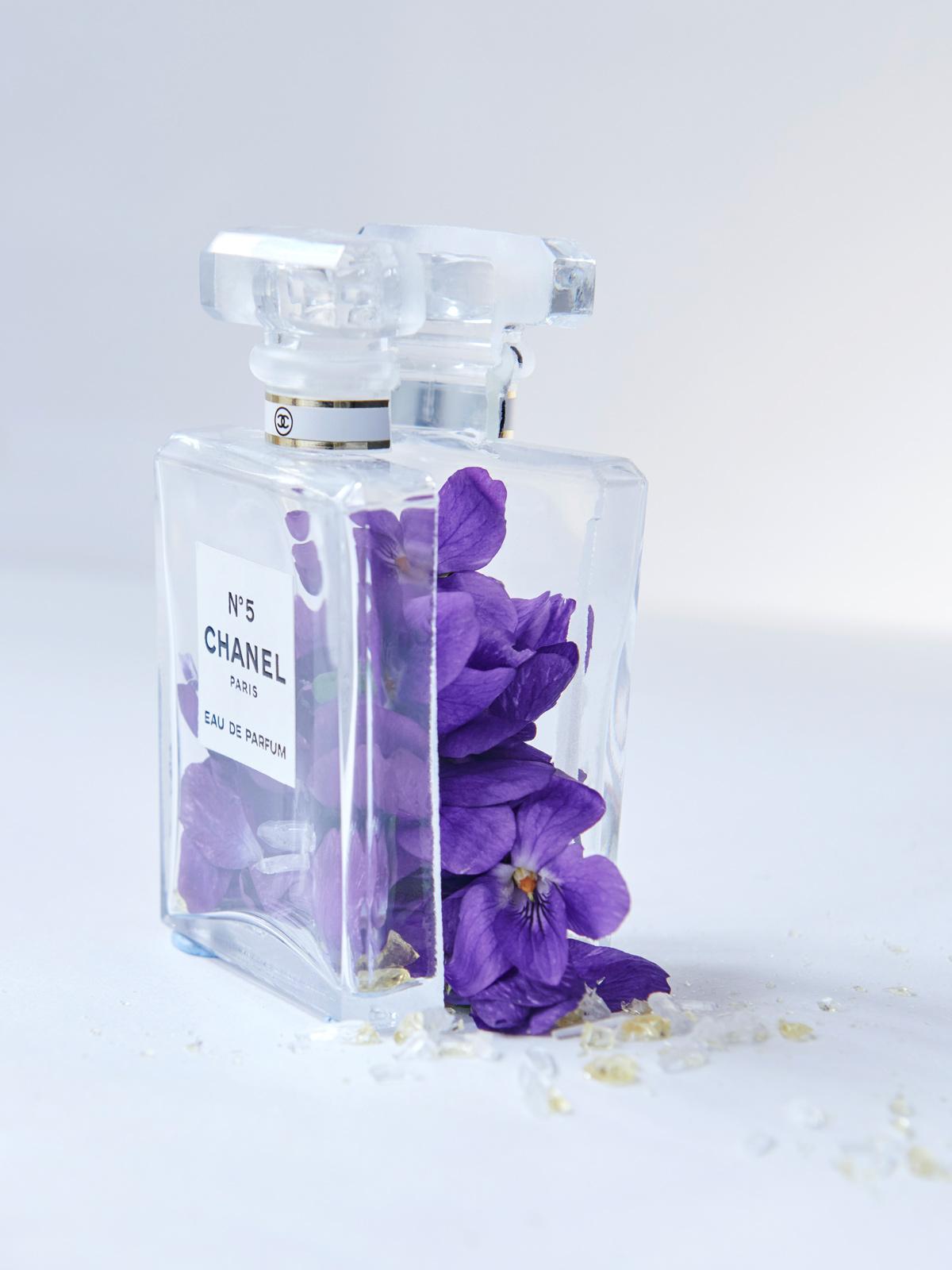 Chanel no 5 perfume still life