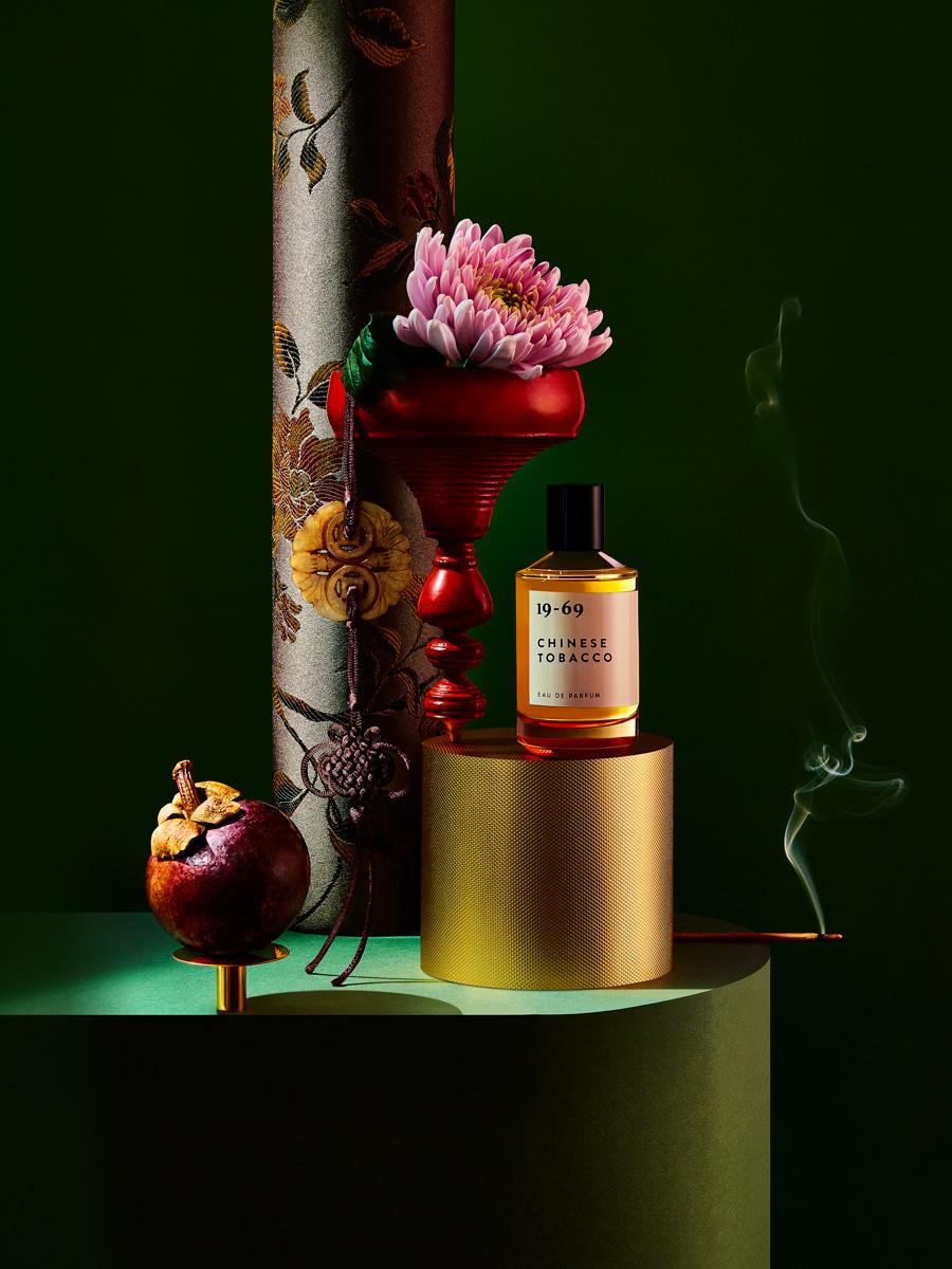 different light perfume still life series