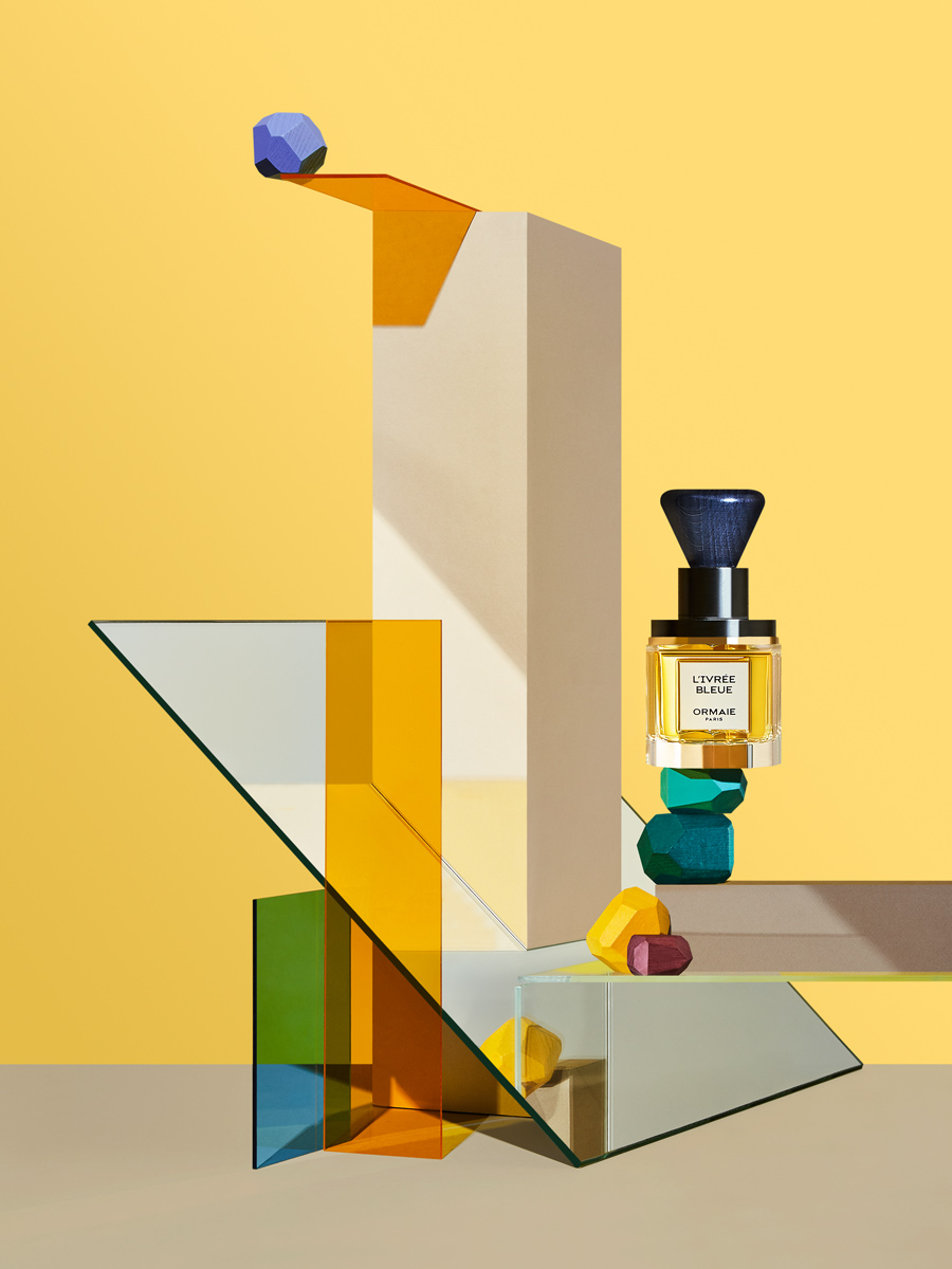 perfume still life with livree bleue by ormaie